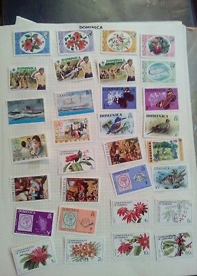 Stamps Used Mm Dominica