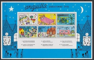 Anguilla Xmas 1976 MNH mini sheet SGMS268 11copies