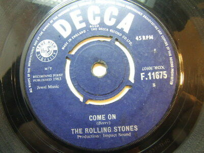 "Rolling Stones – Come On 1963 7"" Decca F.11675"