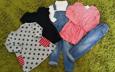 Girls Autumn Winter Next Bundle Jeans Dungarees  Dress Age 2-3 Years