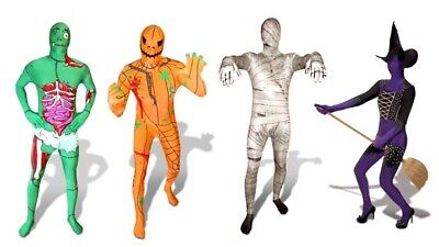 Morphsuit Costumes - Morph Suit Mens Halloween Fancy Dress Skin Stag Party