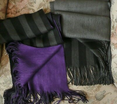 Pair of Soft Knit Striped Scarves