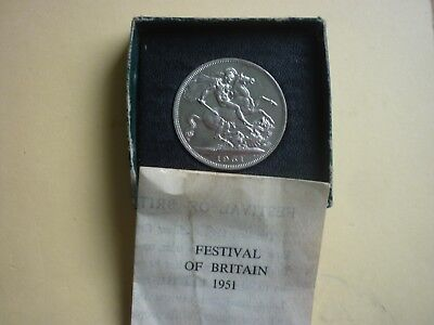 Gt Britain - Boxed Festival Of Britain 1951 Uncirculated George Vi Crown
