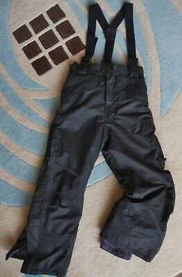 Childs Kids Ski Trousers Black Size 110 - 116 cms Age 5 -6 yrs NWOT