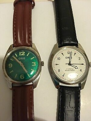 Mens Oris Watch Faces With Straps Sold As Spare Or Repair