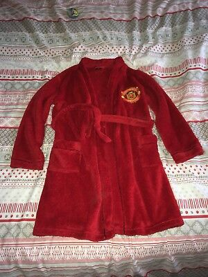 Child's Manchester United Dressing Gown, Man Utd 9-10 years.