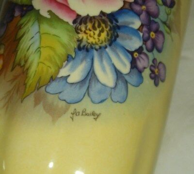 Lovely Vintage Aynsley J.a. Bailey Flowers Vase Ltd Edition 37/300 Robert Huang