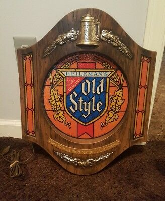 Heileman's Old Style Beer Light/beer Sign 1975