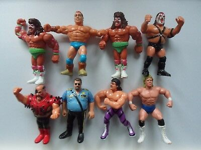 Vintage Hasbro wrestling figure lot / bundle - wwf wwe wrestling hasbro 1990