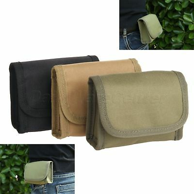 Hunting Tactical Molle 10 Shotgun Shell Nylon Bag Holder Army Green/Black/Khaki