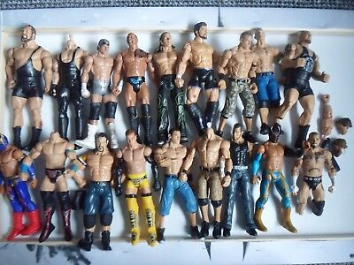 Wrestling spares and repairs figure lot / bundle 2 - Mattel - wwe wwf