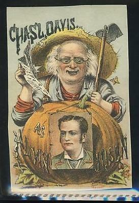 Chas L Davis, Alvin Johnson, theater, Victoran trade card #3