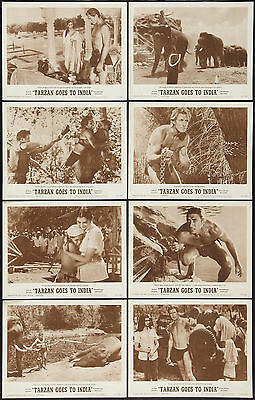 TARZAN GOES TO INDIA orig 1962 lobby card set JOCK MAHONEY 11x14 movie posters