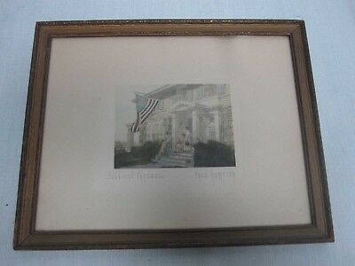 """Signed Fred Thompson World War I """"soldiers Farewell"""" Hand Tinted Photograph"""