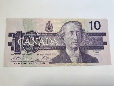 1989 $ 10 Dollars Bank Of Canada Banknote XF BC-57aA Thiessen / Crow ADX1062305