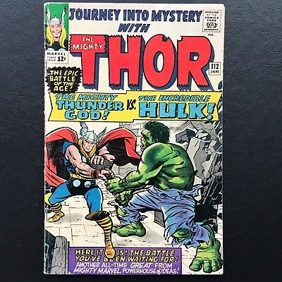 Journey Into Mystery #112 - Epic Battle The Mighty Thor VS Hulk! Marvel Comic
