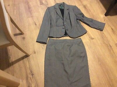 Ladies suit skirt and jacket Marks and Spencer black grey mix 14