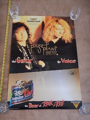 Original 1995 Jimmy Page And Robert Plant North American Tour Concert Poster