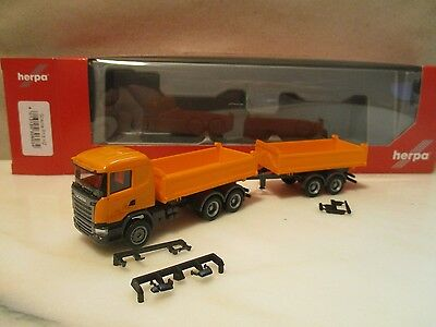 HERPA    ---Tandem HZ    ---  kommunal orange    ---  SCANIA