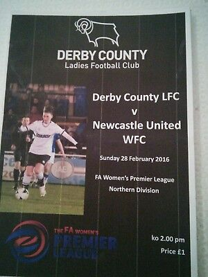 Derby County Ladies v Newcastle United Women 2015/16