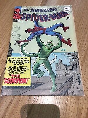 Amazing Spider-Man #20 First Appearance of Scorpion, 1965, Marvel, Steve Ditko