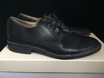 Diesel Black Leather Shoes, Size 8 RRP £245 *Made in Italy*