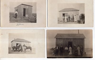 8 Different Antique Real Photo Post Cards Holdenville OK