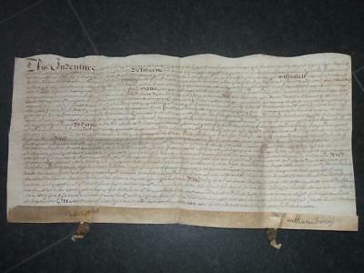 Old 1673 Indenture Written in Old English Cannot Make for What or Where D20
