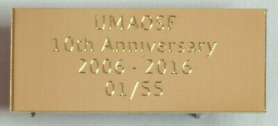 Diamond Cut Engraved Solid Brass Name Plate Plaque 60x15x1.5mm with or no screw