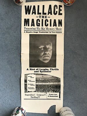 Wallace the Magician retro vintage 1980s theatre poster