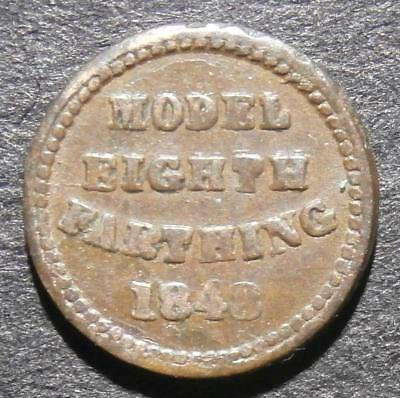 Toy money - 1/8th of a farthing 1848 - Moore model pattern - rare Rogers#226