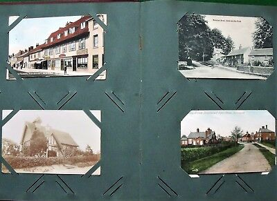 Collection 152 Antique UK Topographical Postcards Edwardian to c1930s In Album