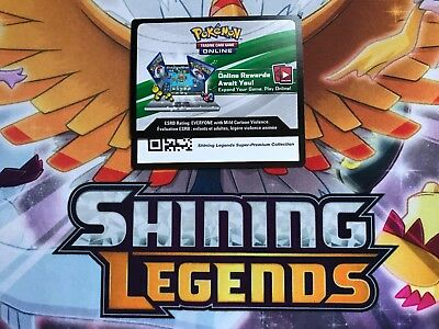 1x Pokemon Shining Legends Super-Premium Collection TCG Online Booster Pack Code