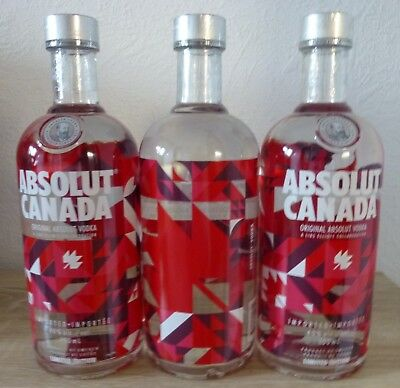"Absolut Vodka Edition """""" CANADA """""" 750ml  40%Vol.neu full and sealed! C"