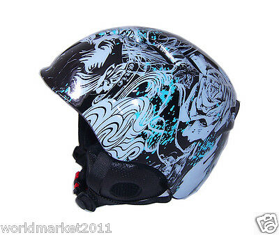 Outdoor Skiing Polycarbonate EPS Blue/White Camouflage Ski Helmets