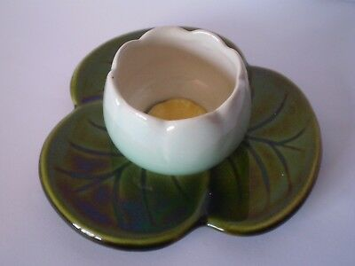 Vintage Majolica Style Water Lily