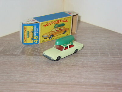 Matchbox Serie 1-75  No.45 B Ford Corsair mit Schachtel 1965