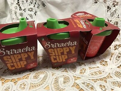 GAMAGO Sippy Cup, Sriracha 3 Pack