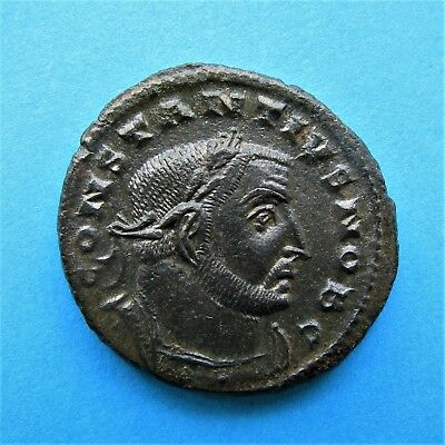 51. Lovely Constantius I Follis Roman coin