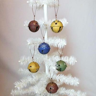 "The Salem Collection - 6 ASSORTED 2"" HAND PAINTED JINGLE BELL ORNAMENTS"