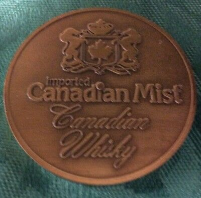Canadian Mist Vintage Mardi Gras Doubloon Heavy Bronze Or Copper
