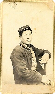 yCDV Civil War Unidentified Soldier 47th Wisconsin Infantry