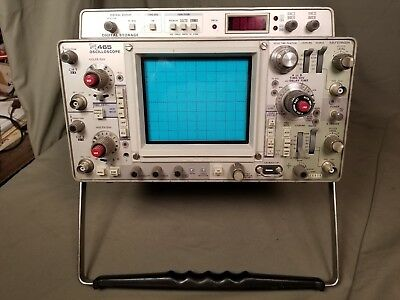 TEKTRONIX 465 OSCILLOSCOPE w/ DIGITAL STORAGE CALIBRATED & WORKING