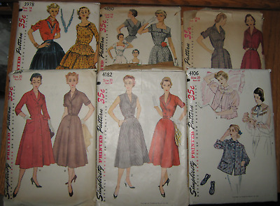 6 - 1953 Simplicity Patterns Sizes 18, 18 1/2, & 20 Southwestern Style Skirt ++