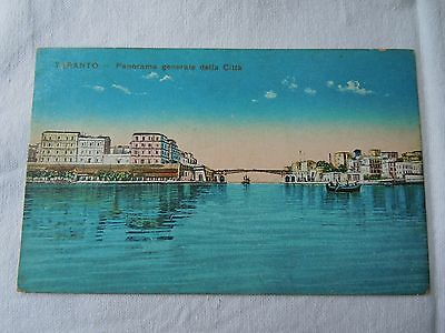 Old Postcard TARANTO ITALY  City and Bridge Unused  Vintage