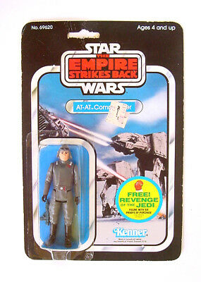 1982 Kenner Star Wars Empire Strikes Back At-At Commander Gray Mint On Card!