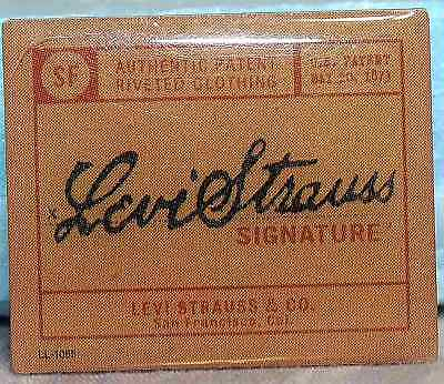 Levi Strauss Authentic Riveted Clothing Pinback