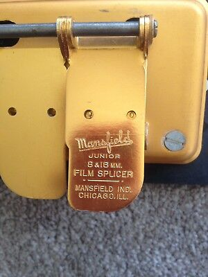 Vintage Mansfield Junior 8 mm  16 mm Film Splicer