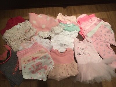 Large Bundle Of 0-3 Months Baby Girl Clothes