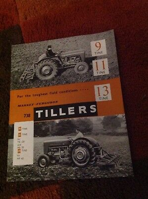 Massey Ferguson 738 tillers brochure for MF 35 and MF 65 tractors